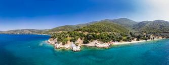 Greece, Aegean Sea, Pagasetic Gulf, Peninsula Pelion, beach of Kufala - AMF05848