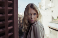 Portrait of starring blond young woman - MAUF01522