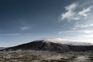 Iceland, Snaefellsnes, mountain landscape and clouds - DMOF00052