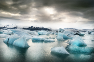 Iceland, South of Iceland, Joekulsarlon glacier lake, icebergs - DMOF00070
