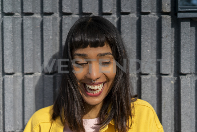Portrait of laughing young woman - AFVF01035