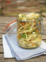 Jar with vegan pasta salad - HAWF01014