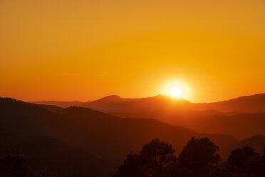 Spain, Andalucia, Parque Natural Montes de Malaga, Casabermeja-Colmenar, at sunset - SMAF01065