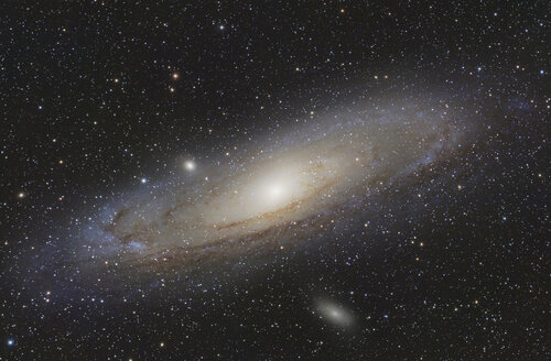 Astrophotography, Spiral galaxy Messier 31 or Andromeda Galaxy - THGF00058