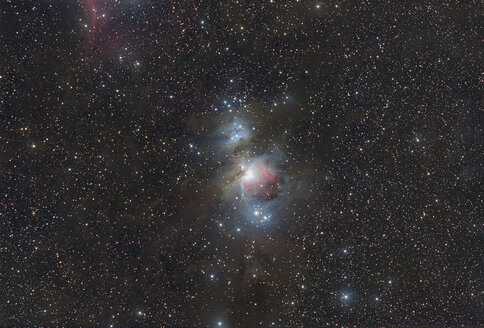 Astrophotography, Long Exposure, emission nebula Messier 42 or Great Orion Nebula - THGF00064