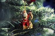 Santa Christmas ornament on tree - ISF18295