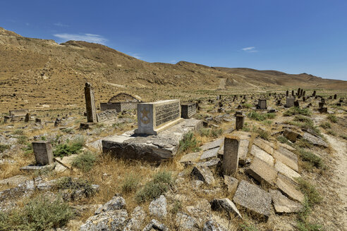 Azerbaijan, Gobustan, grave yard at Gobustan National Park - FPF00188