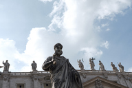 Italy, Rome, Statue of St Paul at the Vatican - BZF00434