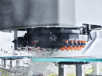 Detail of cnc machine during glass machining - CVF01042