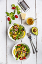 Lamb's lettuce with colorful tomato, avocado, parmesan and curcuma lemon dressing - SARF03875