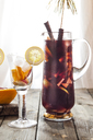 Glass carafe of Sangria with fresh fruits - SBDF03730
