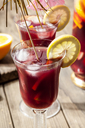Glass of Sangria with fresh fruits - SBDF03733