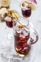 Glass carafe of Sangria with fresh fruits - SBDF03736