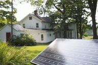 A solar panel in a farmhouse garden. - MINF04986