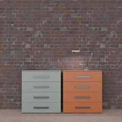 Burning lamp on chest of drawers - UWF01452
