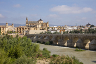 Spain, Andalusia, Cordoba, Old town, Mosque–Cathedral of Cordoba, Puente Romano, Roman bridge - WIF03541