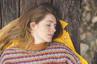 Portrait of woman having a rest outdoors - AFVF01283