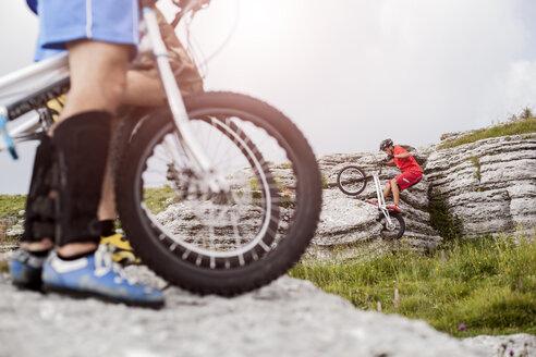 Acrobatic bikers on trial bikes - GIOF04094