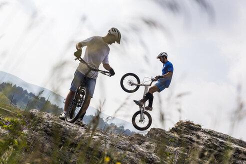 Acrobatic bikers on trial bikes - GIOF04109
