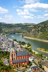 Germany, Rhineland-Palatinate, Middle Rhine Valley, Oberwesel and Church of Our Lady, Middle Rhine - PUF01314