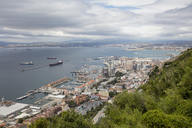Gibraltar, view to city and  Mediterranean Sea from above - WIF03555