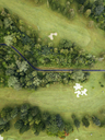Indonesia, Bali, Aerial view of golf course with bunker and green - KNTF01170