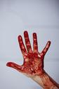 Boody female hand against grey background - AZF00085