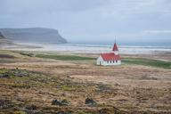 Iceland, Vestfiroir, Breidavík, remote church - KEBF00856