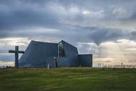 Iceland, Bloenduos, modern parish church - KEBF00862