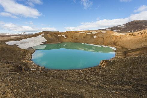 Iceland, Myvatn, Krafla, crater with lake - KEBF00877