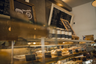 Cake display in a coffee shop - GUSF01016