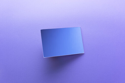Rectangle shaped mirror on purple background - DRBF00074