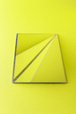 Triangle shaped mirrors over lime green background - DRBF00080