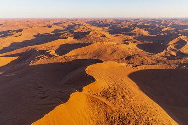 Africa, Namibia, Namib desert, Namib-Naukluft National Park, Aerial view of desert dunes - FOF10123