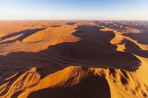 Africa, Namibia, Namib desert, Namib-Naukluft National Park, Aerial view of desert dunes - FOF10132