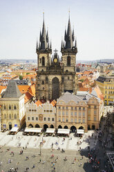 Czechia, Prague, view to Church of Our Lady from the old town hall - GEMF02303