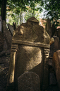 Czechia, Prague, tombstones on the old Jewish Graveyard - GEM02330