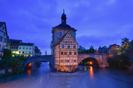 Germany, Bamberg, townhall at blue hour - FDF00240