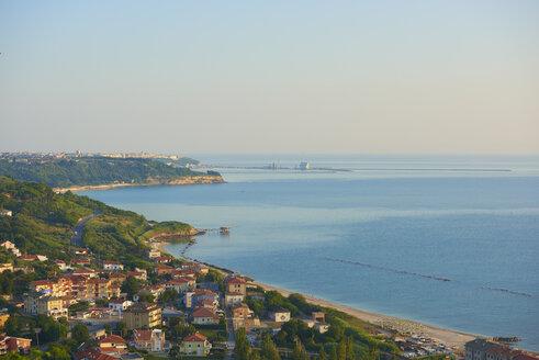 Italy, Abruzzo, San Vito Chietino, Trabocchi coast - LOMF00741