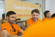 Hackers coding for charity at hackathon - CAIF21505