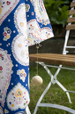 DIY, Tablecloth from Portugal and shell, tablecloth weight - GISF00375
