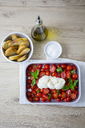 Italian food, caprese, mozzarella and tomatoes and basil - GIOF04234
