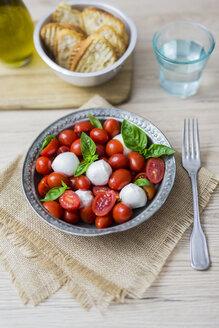 Italian food, caprese, mozzarella and tomatoes and basil - GIOF04243