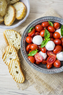 Italian food, caprese, mozzarella and tomatoes and basil - GIOF04246