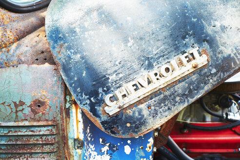 Rusty car bonnet of an old Chevrolet - BSC00575