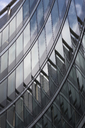 Poland, Warsaw, part of facade of modern office building - FCF01496