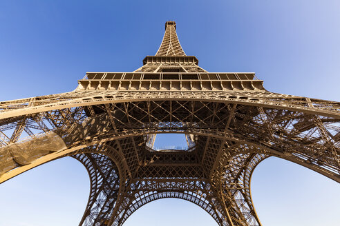 France, Paris, Eiffel Tower, worm's eye view - WDF04797