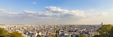 France, Paris, Panoramic cityscape from Montmartre - WDF04812