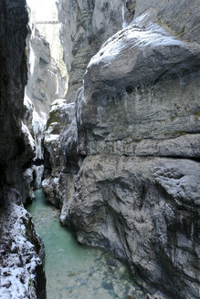 Germany, Garmisch-Partenkirchen, View of icicles in partnachklamm gorge - ZCF00641