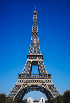 France, Paris, Eiffel Tower against blue sky - DASF00078